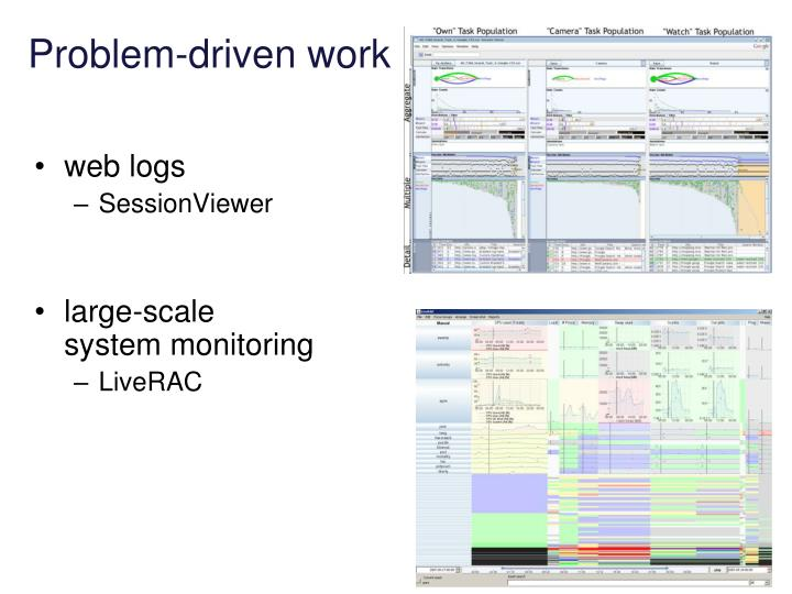 Problem-driven work