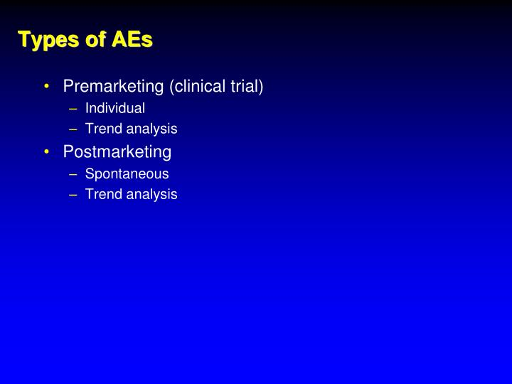 Types of AEs