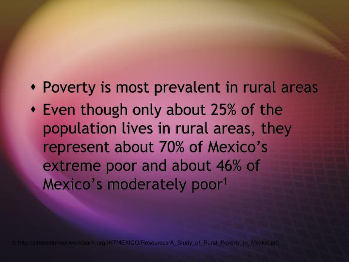 Poverty is most prevalent in rural areas