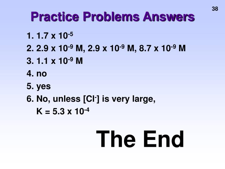 Practice Problems Answers