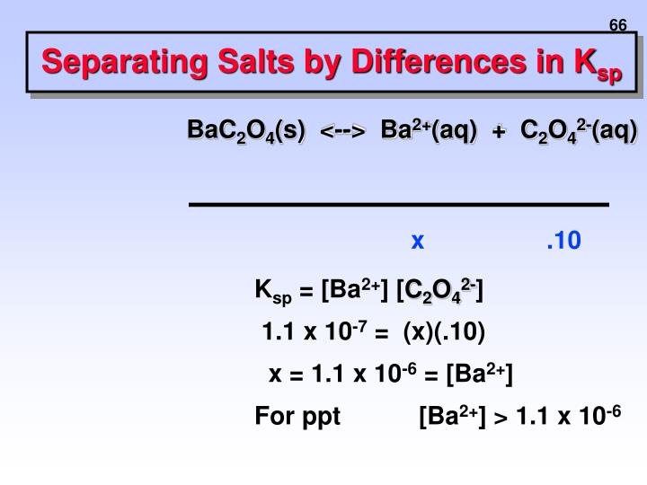 Separating Salts by Differences in K