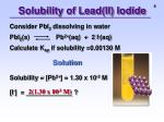 solubility of lead ii iodide
