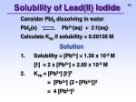 solubility of lead ii iodide2