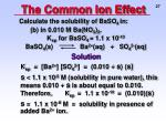 the common ion effect3