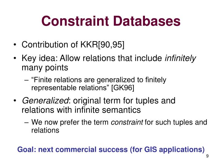Constraint Databases