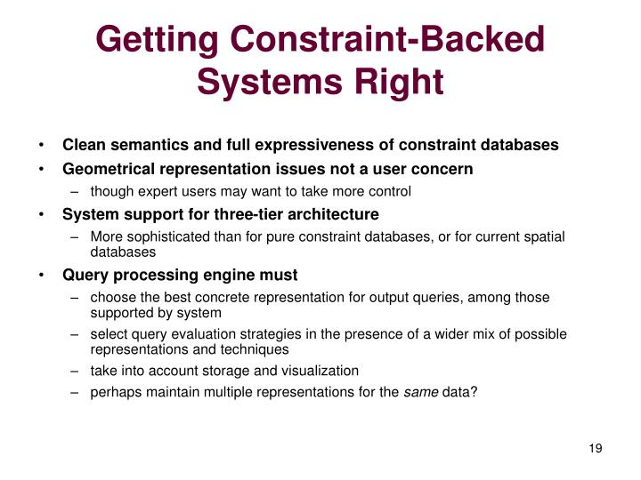 Getting Constraint-Backed Systems Right