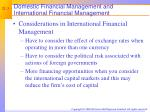 domestic financial management and international financial management