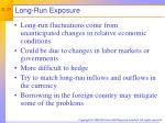 long run exposure