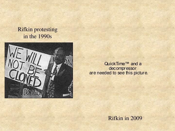 Rifkin protesting