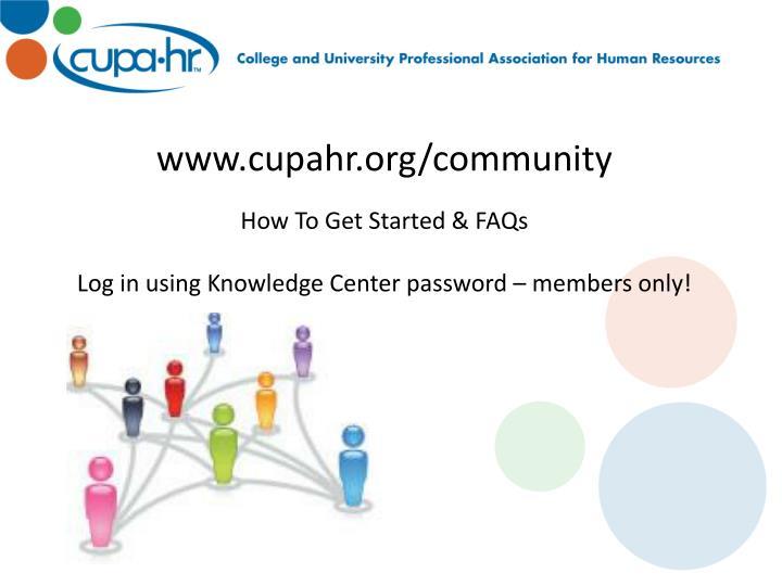 www.cupahr.org/community