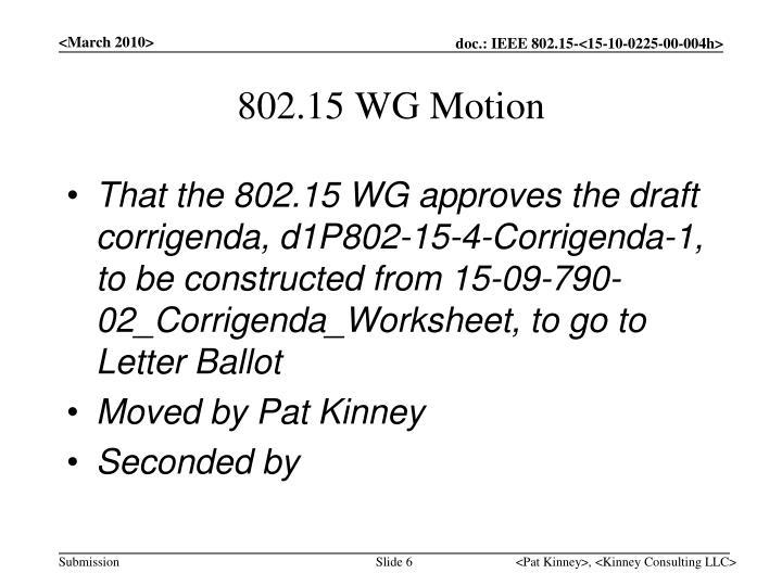 802.15 WG Motion
