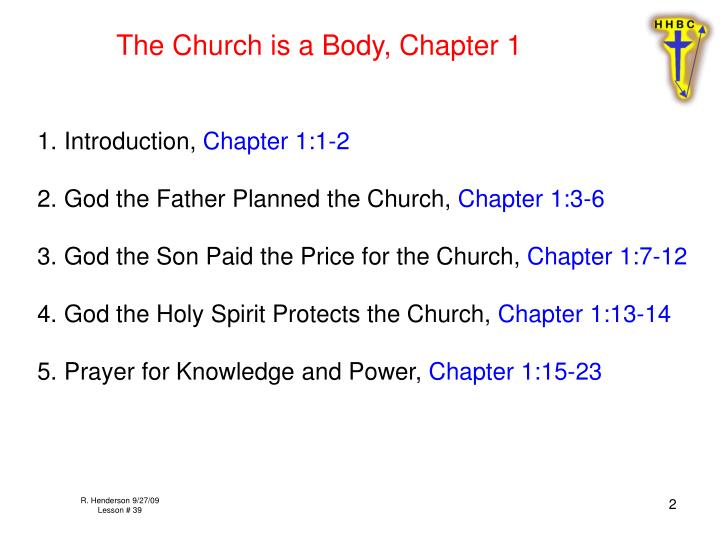 The Church is a Body, Chapter 1