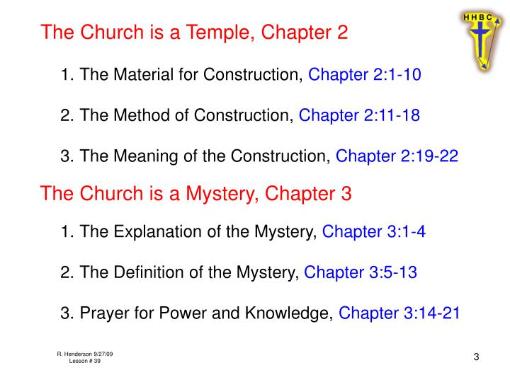 The Church is a Temple, Chapter 2