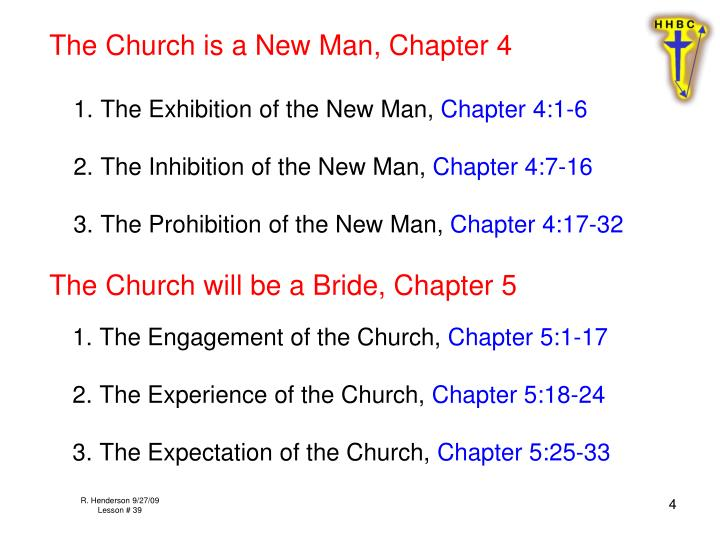 The Church is a New Man, Chapter 4