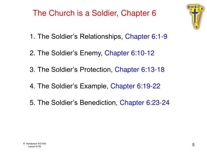 The Church is a Soldier, Chapter 6