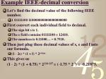 example ieee decimal conversion