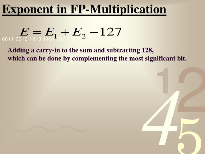 Exponent in FP-Multiplication