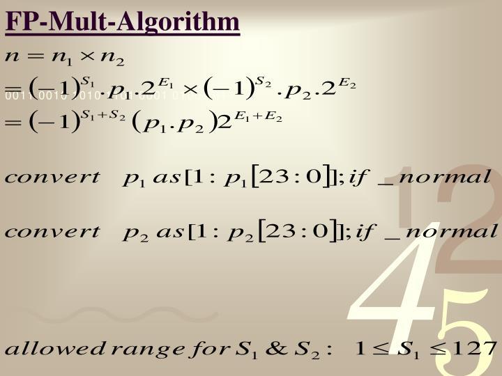 FP-Mult-Algorithm