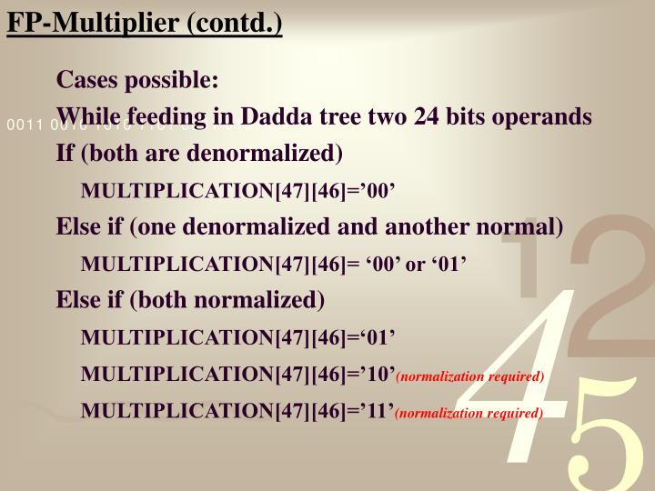 FP-Multiplier (contd.)