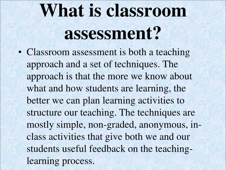 balanced assessment approach for your classroom In the classroom context, instructors use various forms of assessment to inform   learning progressions include an approach to assessment, as assessments   to striking a better balance between classroom and large-scale assessment, we.
