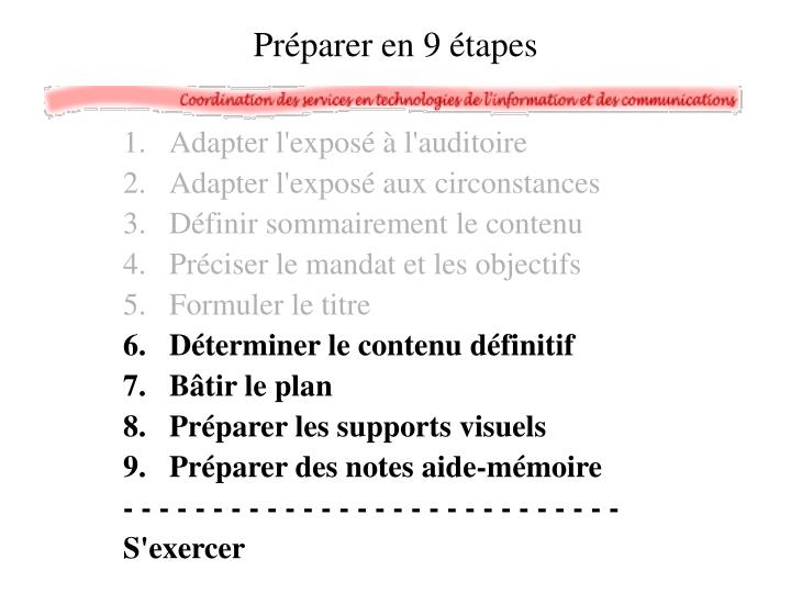 Adapter l'exposé à l'auditoire