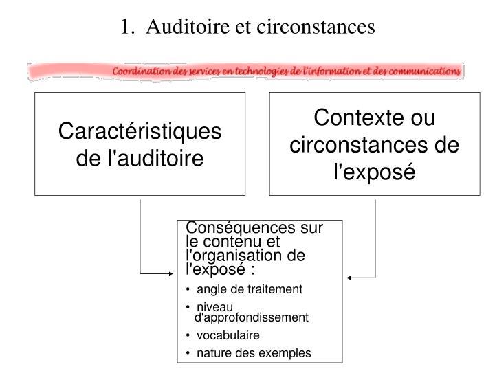Conséquences sur le contenu et l'organisation de l'exposé :