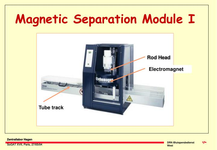 Magnetic separation module i