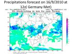 precipitations forecast on 16 9 2010 at 12z germany met