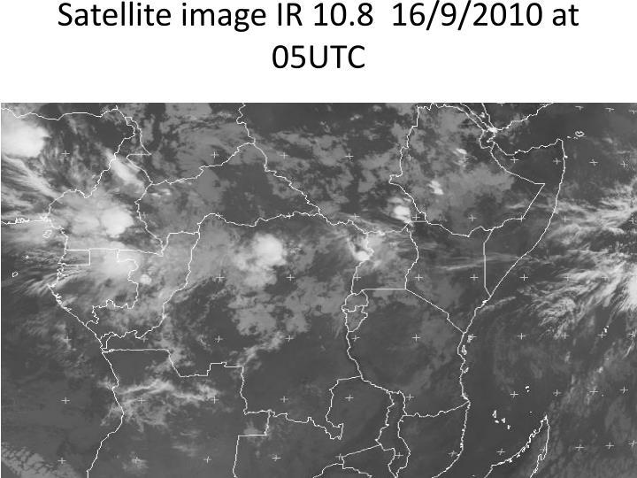 Satellite image IR 10.8  16/9/2010