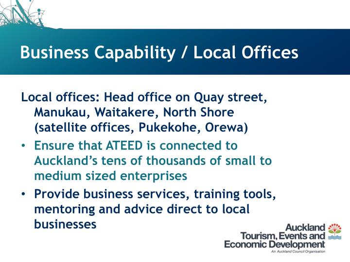 Business Capability / Local Offices