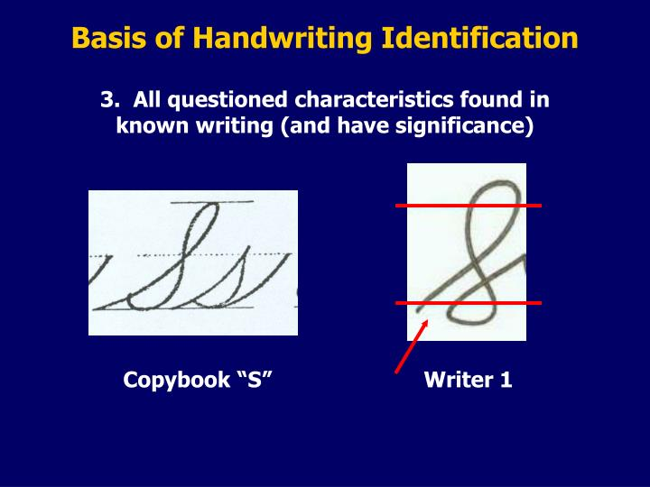 Basis of Handwriting Identification