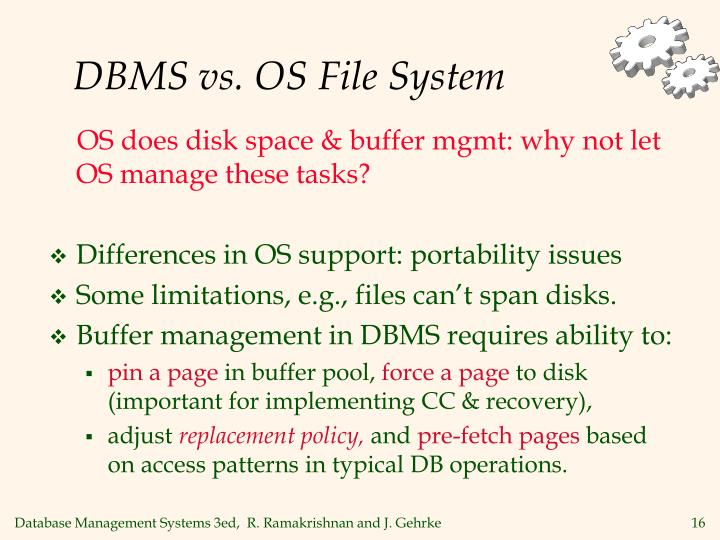 DBMS vs. OS File System