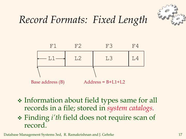 Record Formats:  Fixed Length