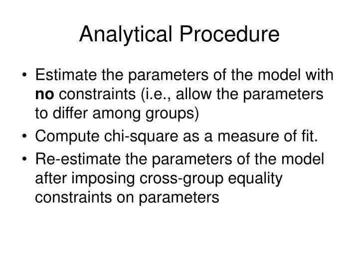 Analytical Procedure