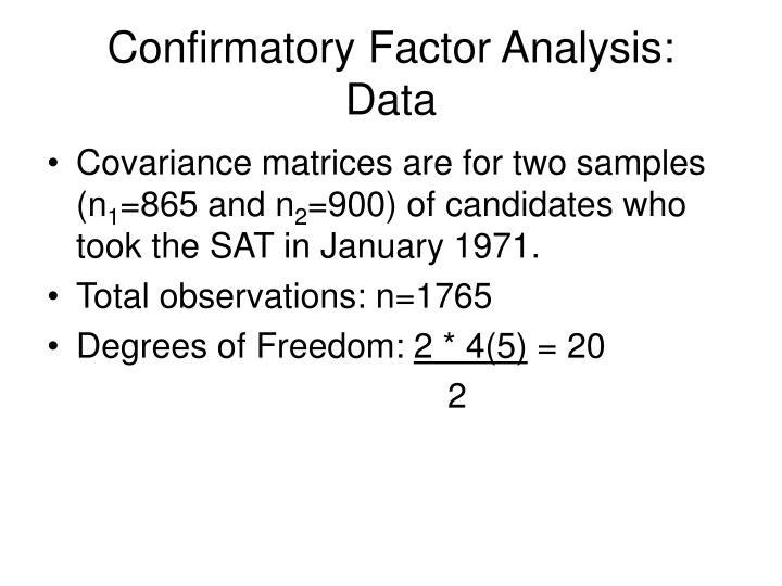 Confirmatory Factor Analysis: