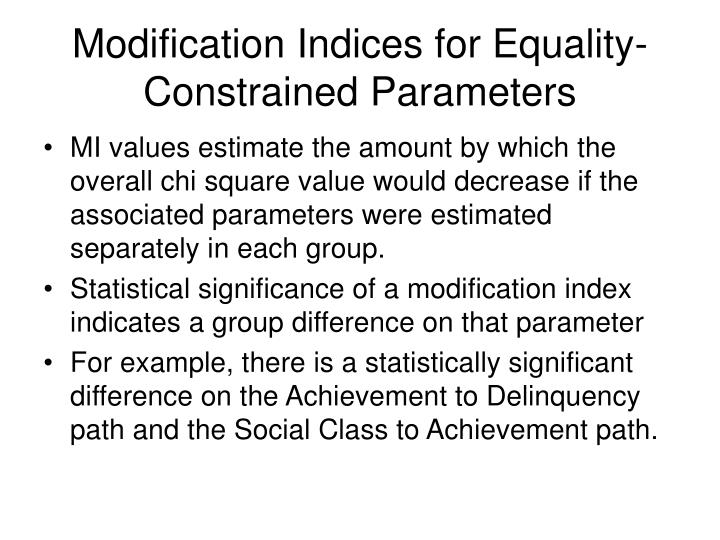 Modification Indices for Equality-Constrained Parameters