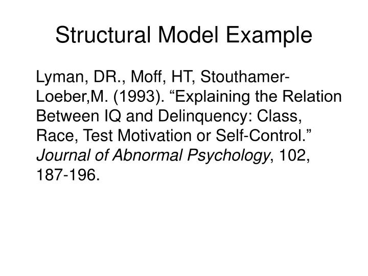 Structural Model Example