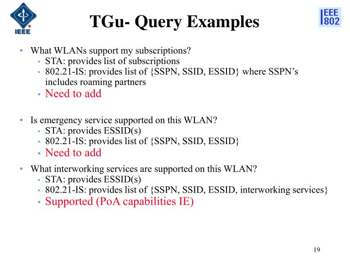 TGu- Query Examples