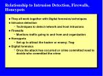 relationship to intrusion detection firewalls honeypots