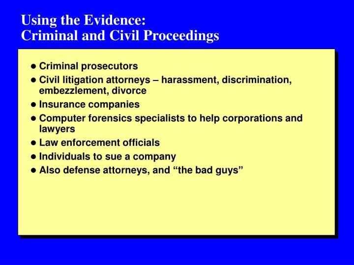 Using the Evidence: