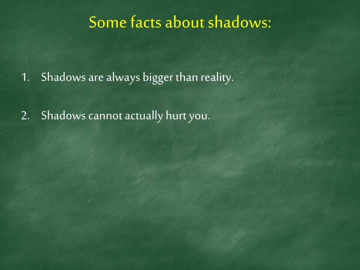Some facts about shadows: