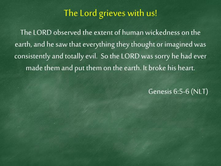 The Lord grieves with us!