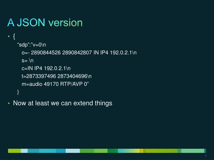 A JSON version