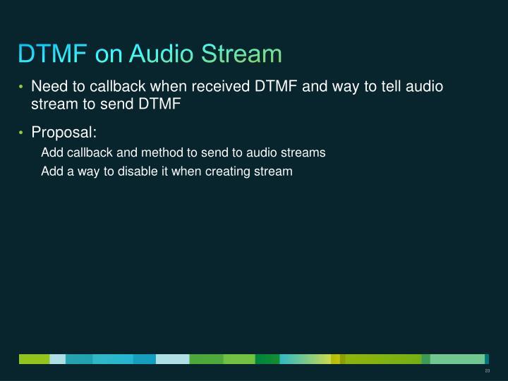 DTMF on Audio Stream
