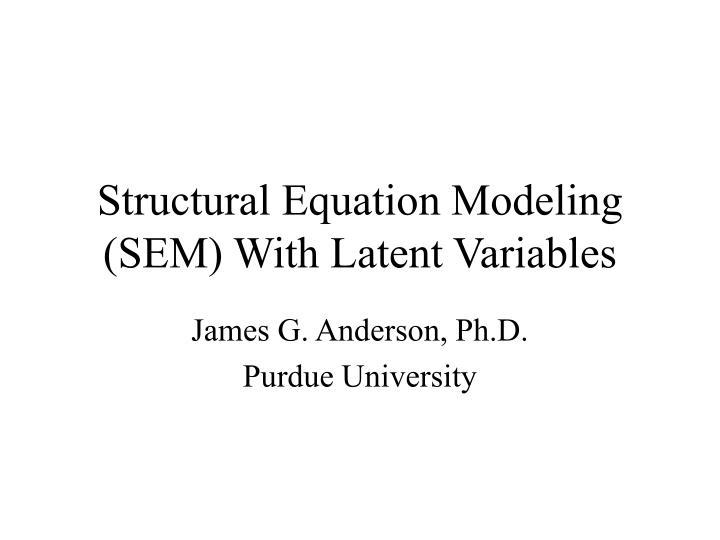 phd thesis using structural equation modeling