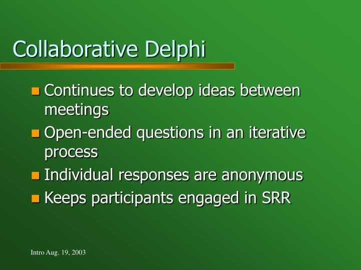 Collaborative Delphi