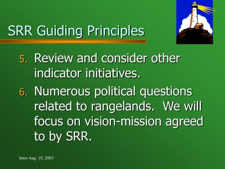 SRR Guiding Principles