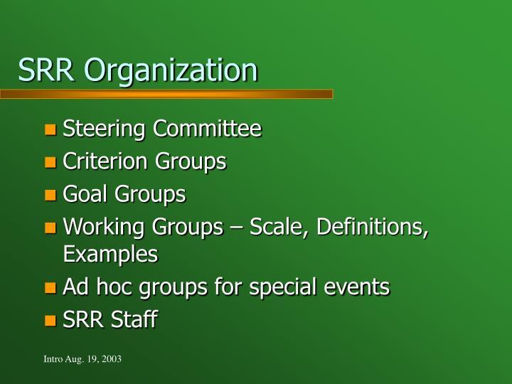SRR Organization