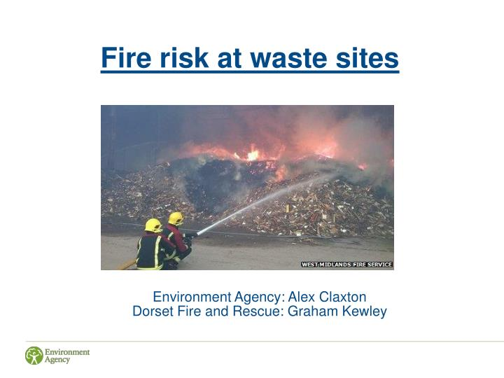 Fire risk at waste sites