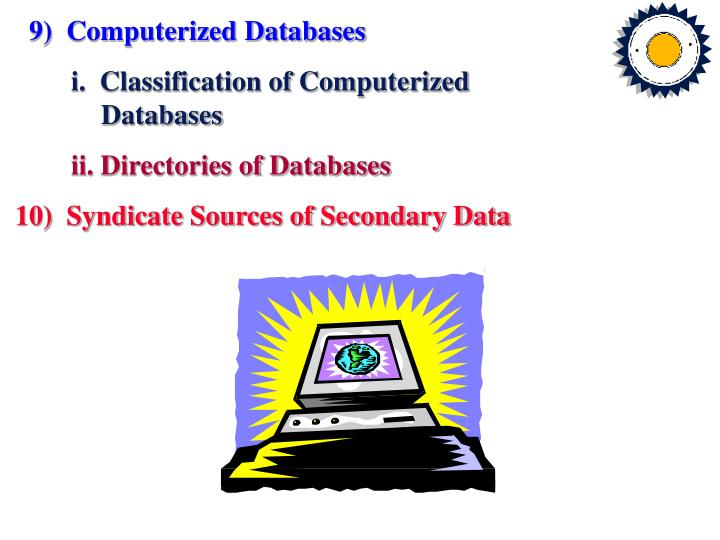 9)  Computerized Databases